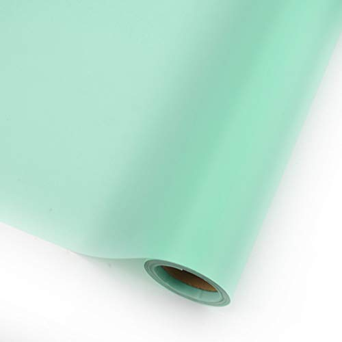 (Korean OPP Paper Solid Color Han Su Paper Waterproof Floral Wrapping Paper Rose Flower Bouquet Packaging Material Wrapping Paper High-Grade Floral Materials,23.6 Inch x 66 ft (Tiffany Blue))