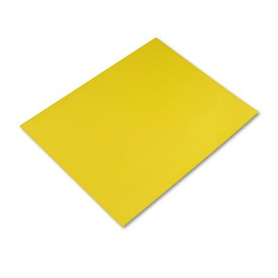 Pacon Colored Four-Ply Poster Board, 28 x 22, Lemon Yellow, 25 per Carton