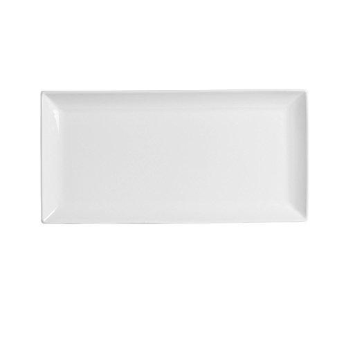 "Francessa - Classico 11"" x 7"" White Porcelain Rectangular Plate"