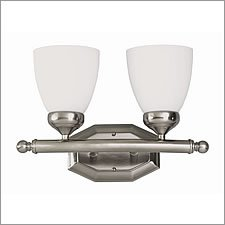 Trans Globe Lighting 2512 BN 2-Light Bath Bar, Brushed Nickel by Bel Air Lighting