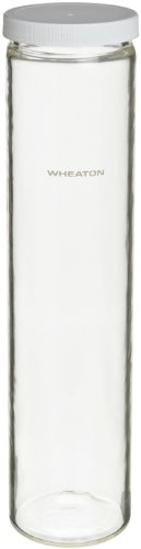 Hybridization Bottles - Wheaton 805027 Hybridization Bottle, Safety Coated, 35mm x 300mm With 45mm Polybutylene Terephthalate (PBT) Screw Cap With PTFE/Silicone Liner