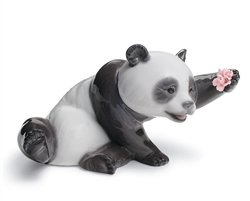 Lladro Jolly Panda Porcelain -