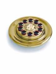 B & H Publishing Group 101348 Communion - Remembranceware - Brasstone Bread Plate Insert For Small Group Communion