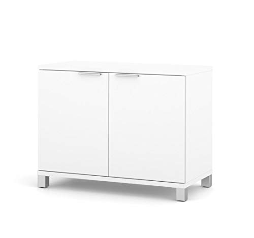 Bestar Pro-Linea 2-Door Storage Unit, White