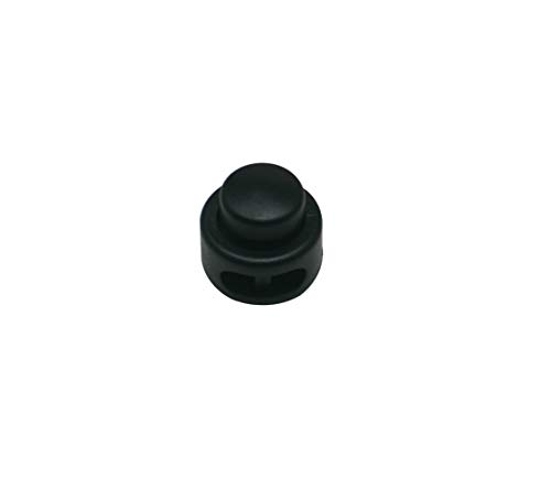 Wuuycoky Double Hole Kettle Drum Cord Lock Plastic Spring Stop Toggle Stoppers Pack of 10