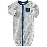 Mud Pie Quilted Football Convertible Gown, 0-3