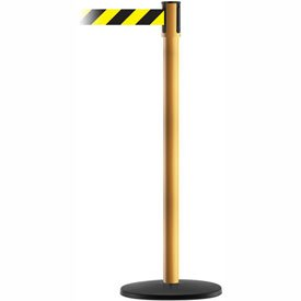 Tensabarrier Yellow Slimline 7.5'L Black/Yellow Chevron Retractable Belt Barrier