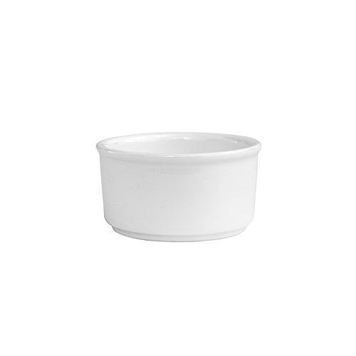 Fortessa Fortaluxe Vitrified China Dinnerware, Accents Ramekin/Butternap, 2.5-Ounce, Set of ()