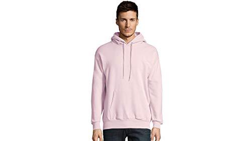 Hanes Men's Pullover EcoSmart Fleece Hooded Sweatshirt, Pale Pink, Medium (Pullover Hoodies Pink)
