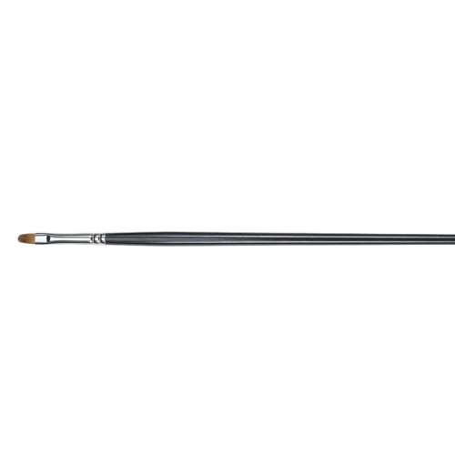 Princeton Artist Brush, Natural Red Sable for Oil Painting, Series 7400 Long Handle Brushes, Filbert, Size 12 by Princeton Artist Brush