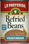 La Preferida Refried Beans, Vegetarian and Low Fat, 16 oz