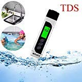 ONIPU TDS Meter Digital Water Tester 3 in 1 Kit with 0-9990 ppm Measurement Range, PH Meter & EC Meter & Temperature Meter for Hydroponics,Aquariums,Drinking Water,RO System,Fishpond and Swimming Pool by ONIPU