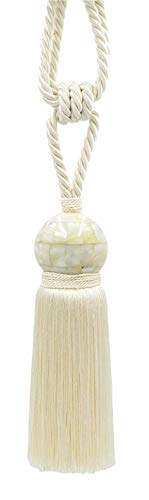 - DÉCOPRO Stunning Ivory Mother of Pearl Tassel Tieback with 8 1/2