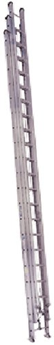 Werner 560-3 250-Pound Duty Rating 3-Section Aluminum Round Rung Extension Ladder, 60-Foot (Werner 16 Ft Aluminum Multi Position Ladder)