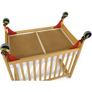 Foundations First Responder Evacuation Frame with Antique Brass Casters for Natural SafetyCraft, Serenity and Biltmore Compact - Crib Evacuation Frame