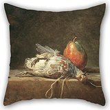 Alphadecor The Oil Painting Jean Siméon Chardin - Still Life With Partridge And Pear Pillow Cases Of ,16 X 16 Inches / 40 By 40 Cm Decoration,gift For Car Seat,indoor,bf,sofa,boy - Sizing Rose Tiffany