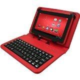 Digital2 7-Inch Keyboard Case, Red (ACK700A_RD)