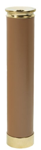 "6 3/4"" Brass Kaleidoscope - Tan Leather Handle"