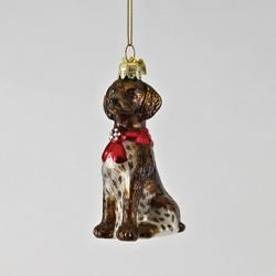 (Kurt Adler German Shorthairedbr Pointer with Bow Ornament)