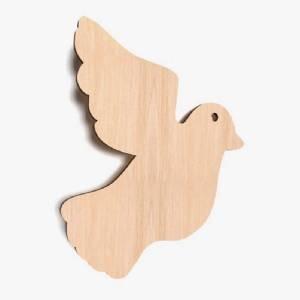 Vogel Holz 10x vogel taube blank form holz vogel basteln malen dekoration