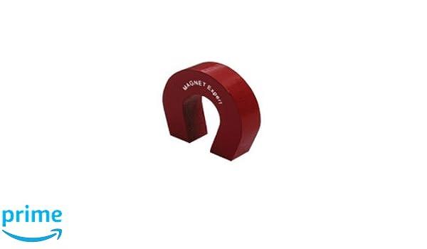 first4magnets F4M802-1 Im/án con forma de herradura fuerza de 1,5 kg color rojo