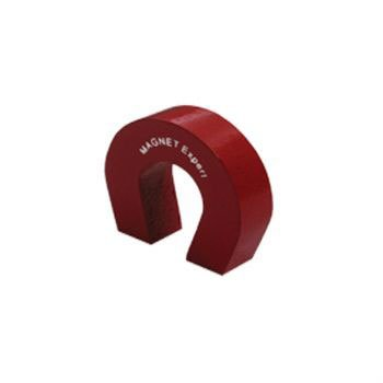 Magnet Expert® F4M802-1 Pocket Size Red Alnico Horseshoe Magnet-1.5kg Pull (22.2 x 25.4 x 7.9mm) (Pack of 1) Magnet Expert®
