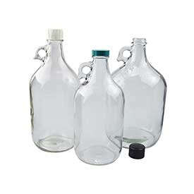 - Qorpak GLC-01429 128oz (3,840ml) Clear Glass Jug with 38-400 Green Thermoset Cap, Case of 4