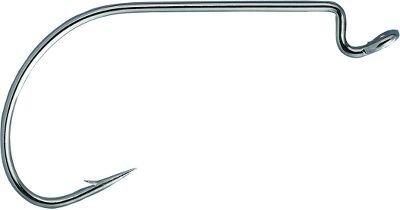(Mustad UltraPoint Mega-Bite Wide Gap Soft Plastic Hook with Offset Shank (Pack of 25), Black Nickel, 4/0)