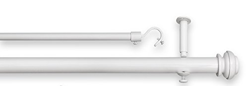Source Global Bold Pole Double Rod Set 86 144-Inch, White bp103-a