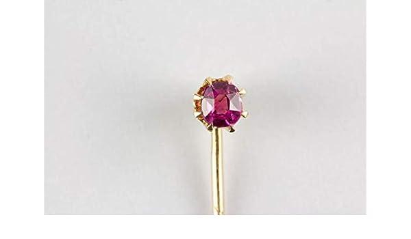 Beyant Aguja de Corbata, Oro 1900, 585, rubí Sellado. Tie Pin, Oro ...