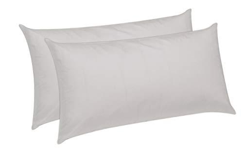 Pikolin Home - Pack de 2 almohadas de fibra, antiacaros, funda 100% algodon, firmeza media, 40x70cm, altura 18cm (Todas las medidas)