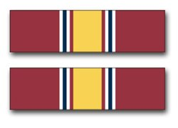 Military Vet Shop Magnet US Army National Defense Service Medal Ribbon Vinyl Transfer Vinyl Magnet Car Fridge Locker Metal Decal 3.8