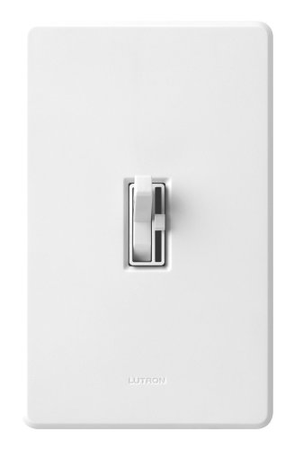 Lutron TG-603PH-WH Toggler 600W 3-Way Preset Dimmer, White - 3 Way Wall