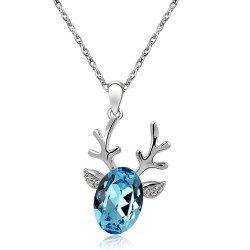 Amazon christmas santa reindeer pendant necklace fashion christmas santa reindeer pendant necklace fashion jewelry christmas gift aquarium blue aloadofball Choice Image