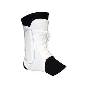 Lightweight Lace-up Ankle Brace in White Size: Extra Large by Bell-Horn