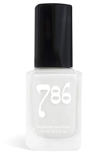 786 Cosmetics Abu Dhabi - (White) Vegan Nail Polish, Cruelty-Free, 11-Free, Halal Nail Polish, Fast-Drying Nail Polish, Best White Nail Polish