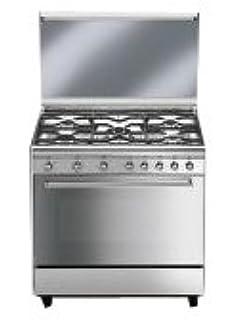 smeg cucina sx81m 1 con 5 zone cottura finitura inox da 80cm