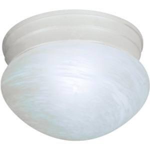 Satco - 1 Light Es Small Mushroom W/ Alabaster Glass - (1) 13W Gu24 Lamp Included