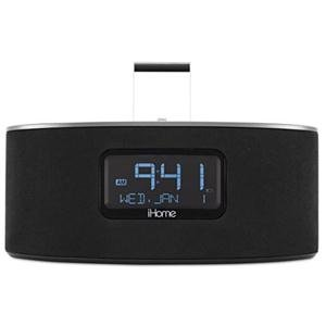 iHome iDL46 Lightning Dock Clock Radio and USB Charge/Play for iPad/iPod and iPhone 5/5S and 6/6Plus iPad Air /iPad Mini (Gray)
