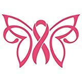 Breast Cancer Butterfly Ribbon Decal Vinyl Sticker|Cars Trucks Vans Walls Laptop| Pink|5.5 x 3.75 in|CCI1239