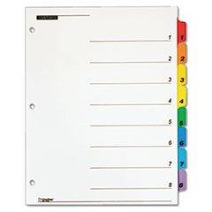 * QuickStep OneStep Bulk Index System, Title: 1-8, Letter, Multicolor, 2 by MotivationUSA