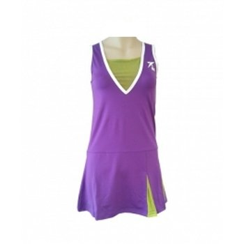 DROP SHOT - Vestido pádel rania, talla m, color morado