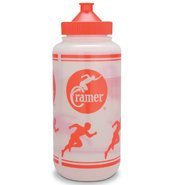 Cramer Big Mouth Squeeze Wide Mouth Water Bottles With No Leak Push/Pull Cap, BPA-Free Bottle For Team Sports, Football, Lacrosse, Hockey, Soccer, Dishwasher Safe Plastic Waterbottles for Teams by Cramer