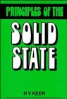 Principles of the Solid State, Keer, H. V., 047022052X