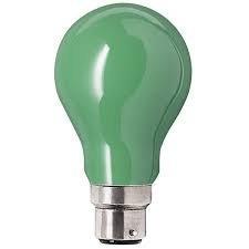 Bright 5w Led Coloured Gls Light Bulb Green B22 Bayonet