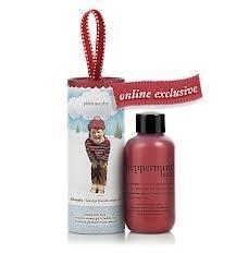 Philosophy Peppermint Bark Shampoo, Shower Gel & Bubble Bath 2 oz. with ornament packaging ()