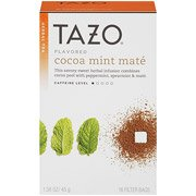 Tazo Flavored Cocoa Mint Mate Herbal Tea Bags, 16 count (pack of 4)
