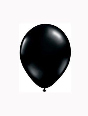 5 Inch Latex Balloons Jewel Onyx Black (Pk 100) by Qualatex