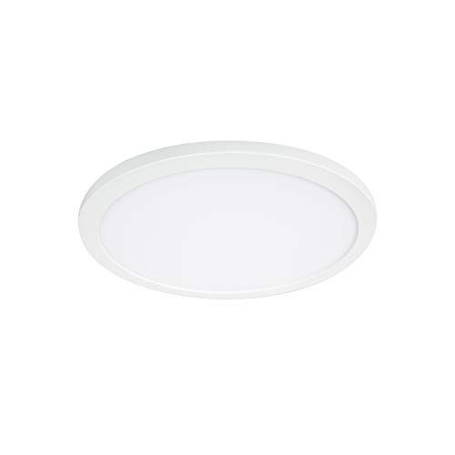 - Maxxima 7 in. Slim LED Flush Mount Ceiling Light Fixture, Magnetic Trim Ring, 12W 880 Lumens, Warm White 3000K Dimmable, Energy Star