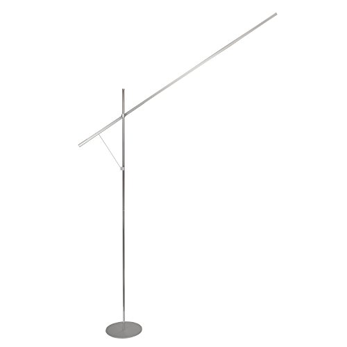 21Y8Qc9xl4L - Brightech – Sparq LED Floor Lamp – Linear Edition – Minimalist Design with Sci-Fi Lightsaber Look – Built-in Dimmer – 126 Embedded LED Lights draw an Energy-Saving 16 Watts – Platinum Silver